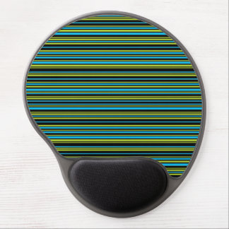 Blue lime green stripes Mousepad Gel Mouse Pad