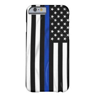 Blue Line American USA Flag Cop Police Barely There iPhone 6 Case