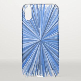 Blue Line Burst Pattern Phone Case
