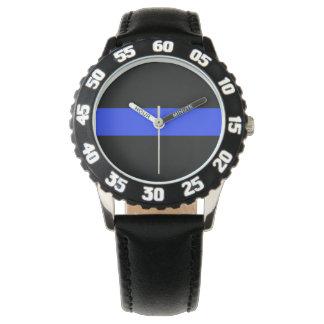 Blue Line Custom Black Bezel Watch