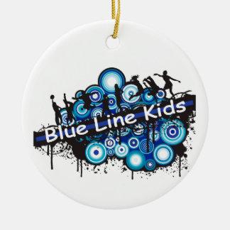 Blue Line Kids Christmas Ornament