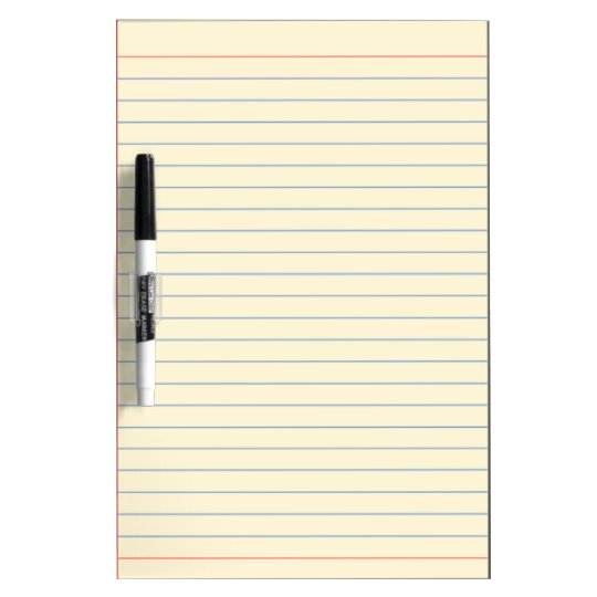 blue line medium dry erase board