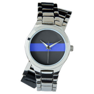 Blue Line Silver Wraparound Watch