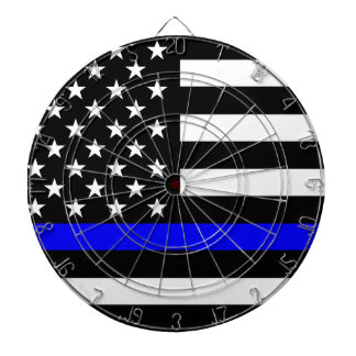 Blue Line US Flag Dartboard