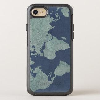 Blue Linen World Map OtterBox Symmetry iPhone 8/7 Case