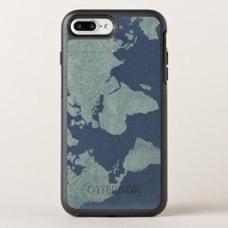 Blue Linen World Map OtterBox Symmetry iPhone 8 Plus/7 Plus Case