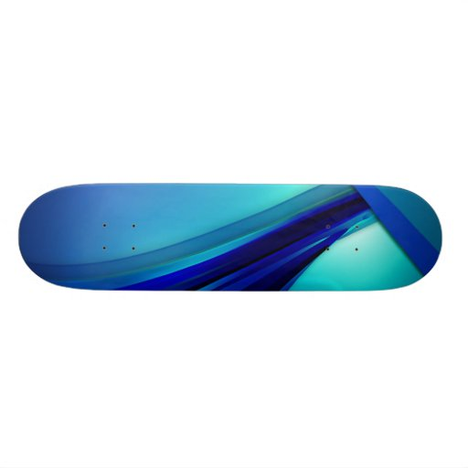 Blue Lines Art Custom Skate Board