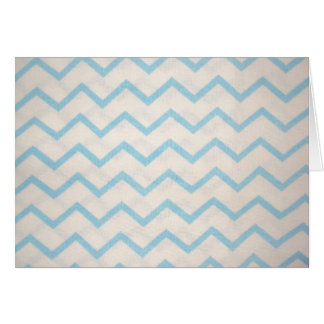 blue lines in zig zag greeting card