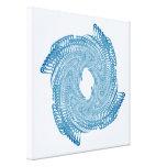 Blue Lines Structure Canvas Prints