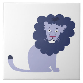 Blue lion blue tile