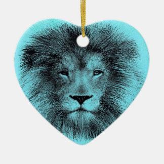 Blue Lion Christmas Ornament