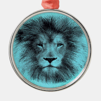 Blue Lion Christmas Ornament