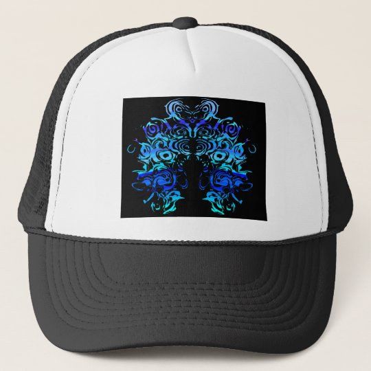 Blue Lion Head Trucker Hat