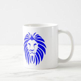 Blue Lion Mane - White Coffee Mug