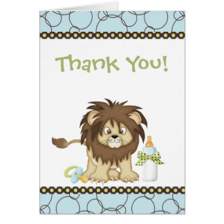 Blue Lion Thank You Card