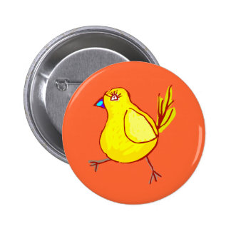 Blue Lipped Chick 6 Cm Round Badge