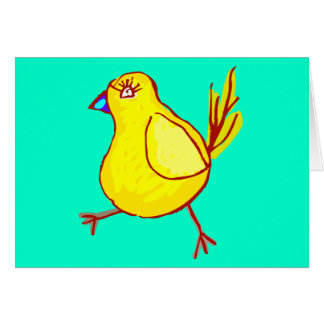 Blue Lipped Chick Card