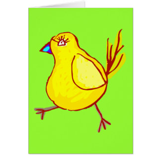 Blue Lipped Chick Greeting Card