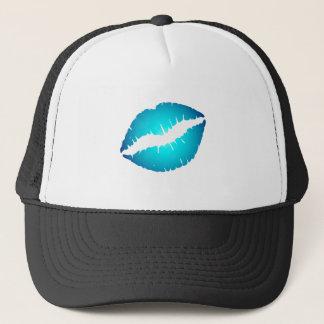 Blue Lips Trucker Hat