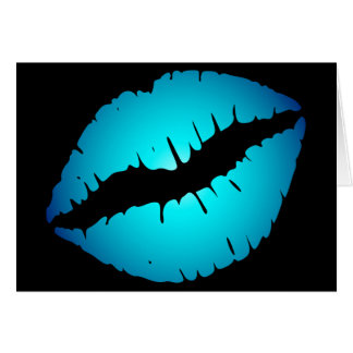 Blue Lipstick Card