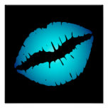 Blue Lipstick Poster