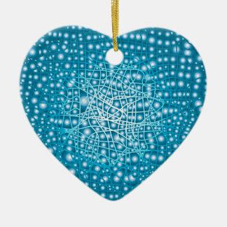 Blue Liquid Background Christmas Ornament