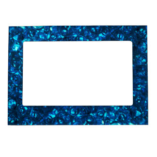 Blue Liquid Ocean pearls Magnetic Picture Frame