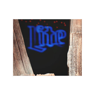 Blue Lite. Stretched Canvas Print