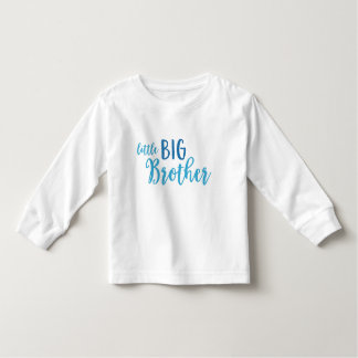Blue Little Big Brother Toddler Long Sleeve Tee