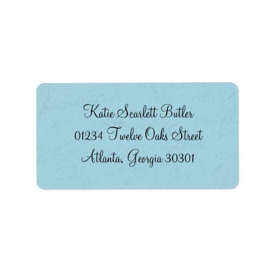 Blue Little Prince Vintage Baby Shower Address Label