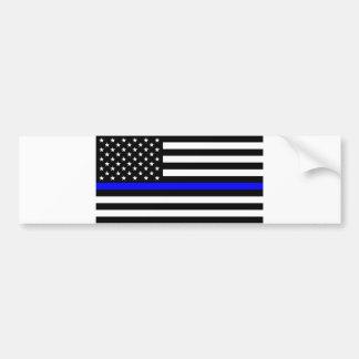 Blue Lives Matter - US Flag Police Thin Blue Line Bumper Sticker