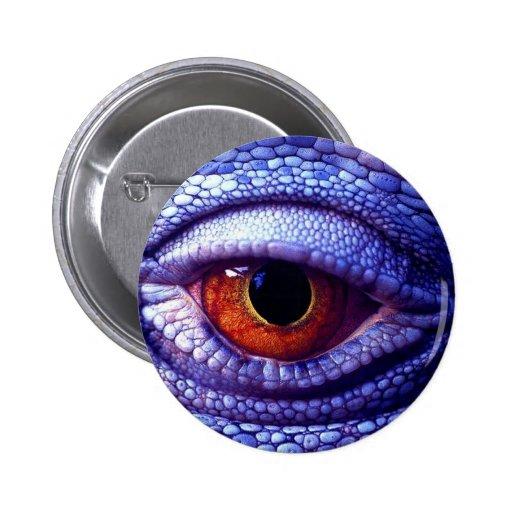 Blue Lizard Eye Buttons
