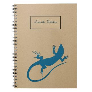 Blue lizard, geko - Capri, Italy Notebook