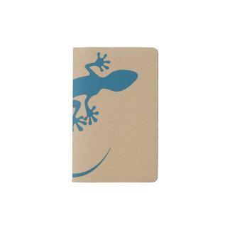 Blue lizard, geko - Faraglioni, Capri, Italy Pocket Moleskine Notebook