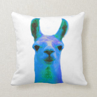 Blue Llama Graphic Cushion