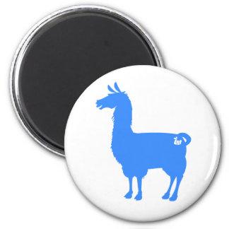 Blue Llama Magnet