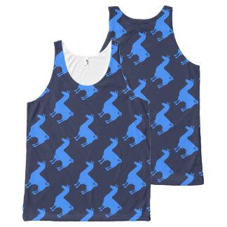 Blue Llama Tank Top Pattern