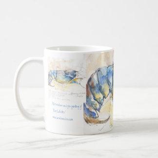 Blue Lobster Basic White Mug