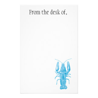 Blue lobster note paper stationery paper