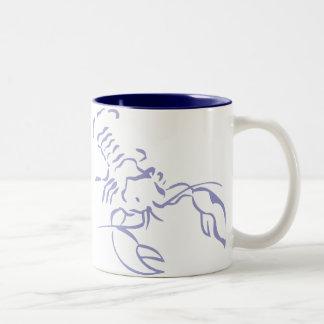 Blue Lobster Two-Tone Coffee Mug