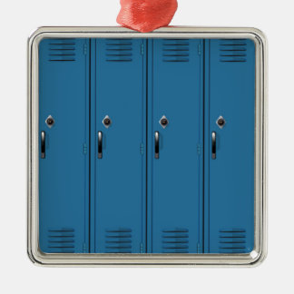 Blue Locker Doors Christmas Ornament