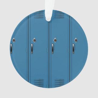Blue Locker Doors Ornament