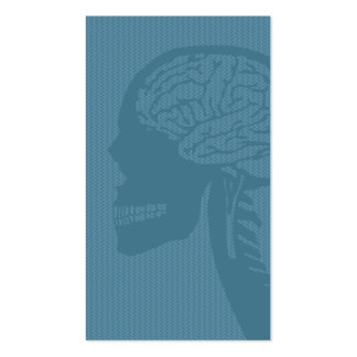 blue logicskull Double-Sided standard business cards (Pack of 100)
