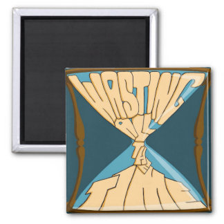 Blue Logo Square Magnet