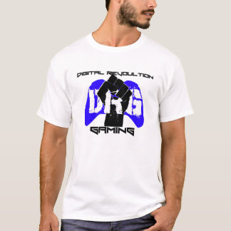 Blue Logo T-Shirt: Men's White T-Shirt
