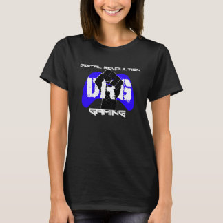 Blue Logo T-Shirt: Women's Black T-Shirt