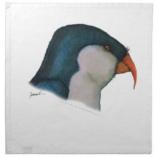blue lorikeet parrot, tony fernandes napkin