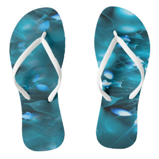 Blue Lotus Energy Flip Flops