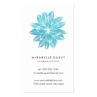 Blue Lotus | Floral Watercolor Pack Of Standard Business Cards