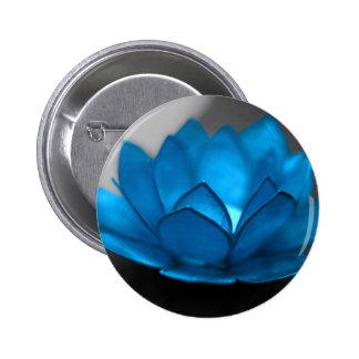 Blue Lotus Flower 6 Cm Round Badge